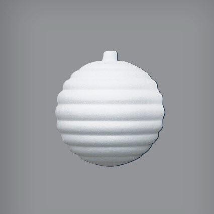 Пенопластовый шар рельефный, диаметр 8 см