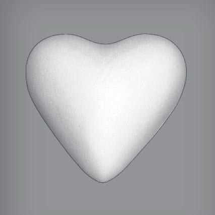 Пенопластовое сердце, 11 см