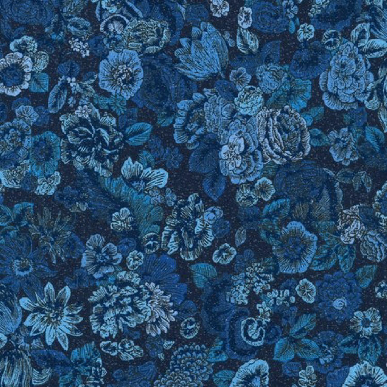Ткань Fusions Collection Garden, NAVY
