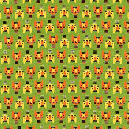 Ткань Suzys Minis, GREEN